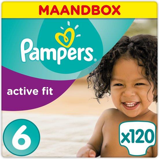 Pampers Active Fit - Maat 6 (Extra Large) 15+ kg - Maandbox 120 Stuks - Luiers