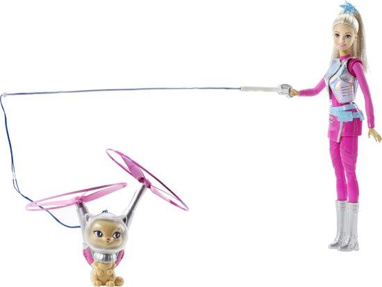 Barbie Star Light Avonture Galactische Barbie met Vliegende Kat