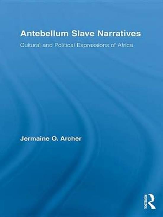 Antebellum Slave Narratives