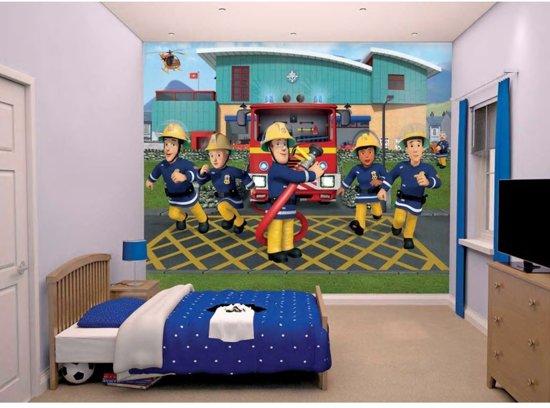 Kinderbehang brandweerman Sam - Walltastic - 305 x 244 cm
