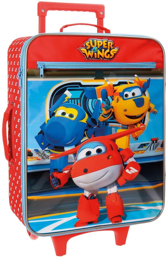 Super Wings Kinderkoffer - 50 cm - Rood