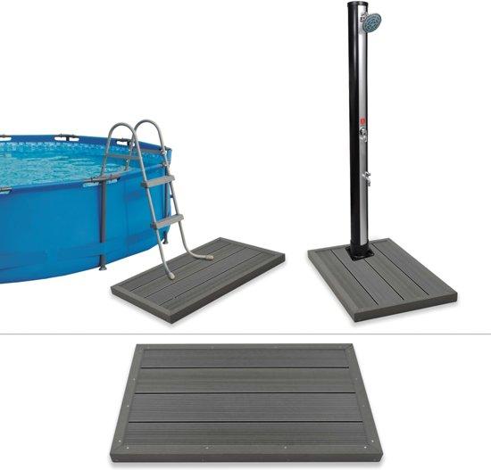 vidaXL Vloerelement voor solardouche of zwembadladder HKC