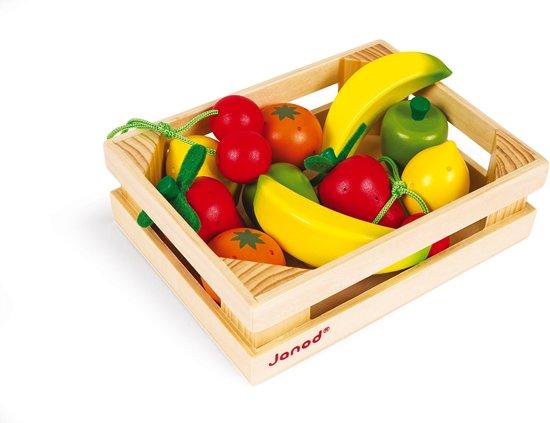 Janod Chic Fruit Kistje - 12 Stuks