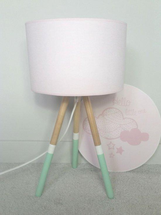 bol | tafellamp babykamer mint/roze, Deco ideeën