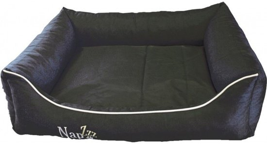 Nap'z waterproof divan hondenmand zwart 90x75 cm