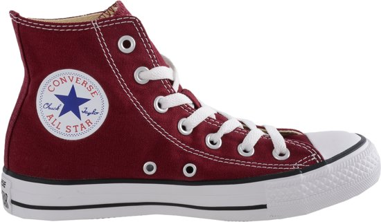 Maroon Converse All Star Hoog Sneakers wI7rIPxd