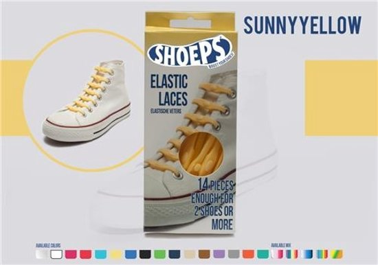 Shoeps Elastische Veters Jaune Soleil PJdCSoyA