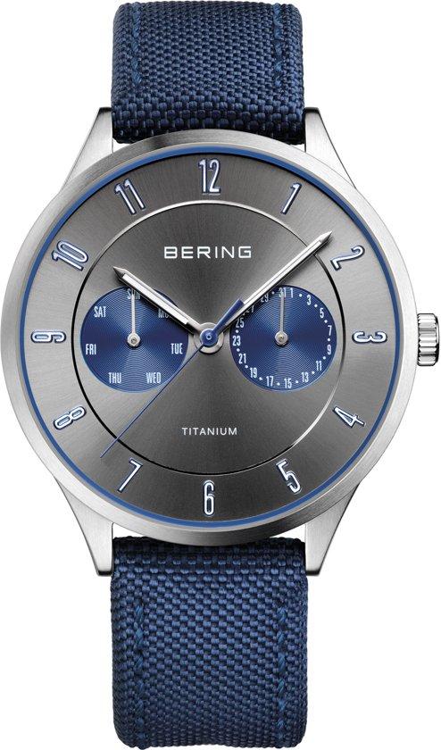 BERING 11539-873 - Horloge - Nylon - Zilverkleurig - Ø 39 mm