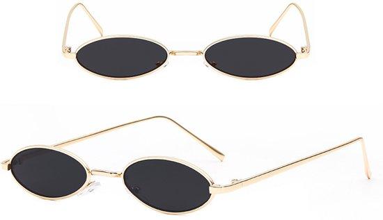 Zonnebril Met Kleine Ronde Glazen.Trendy Zonnebril Ovale Glazen Gouden Montuur