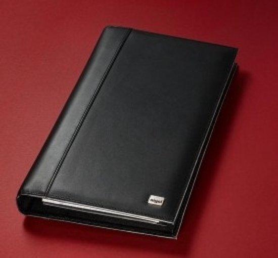 Visitekaartringband Sigel Torino leer zwart 90x58mm 160 kaartjes