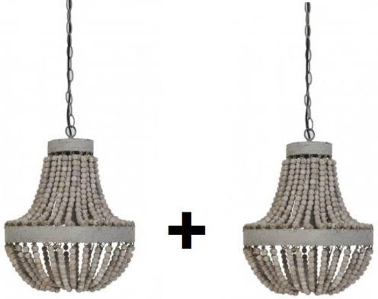 Luna Light Lampen : Bol luna hanglamp kralen oud wit set gratis lampen