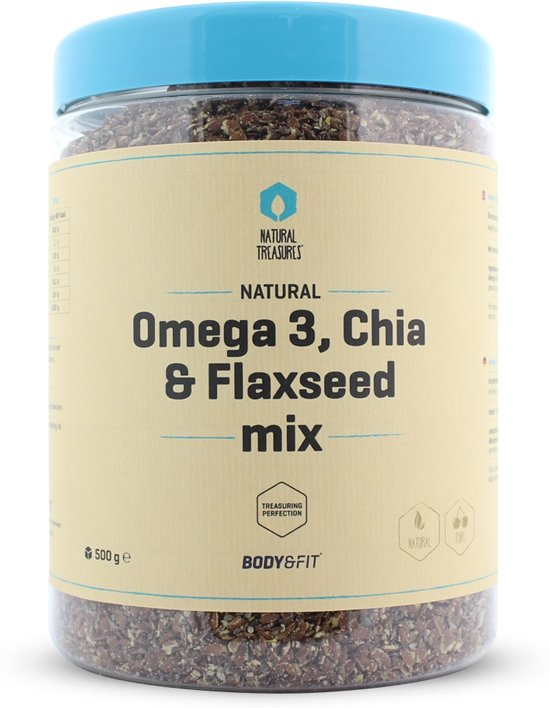 Body & Fit Superfoods Omega-3, Chia- & Lijnzaad mix - 500 gram