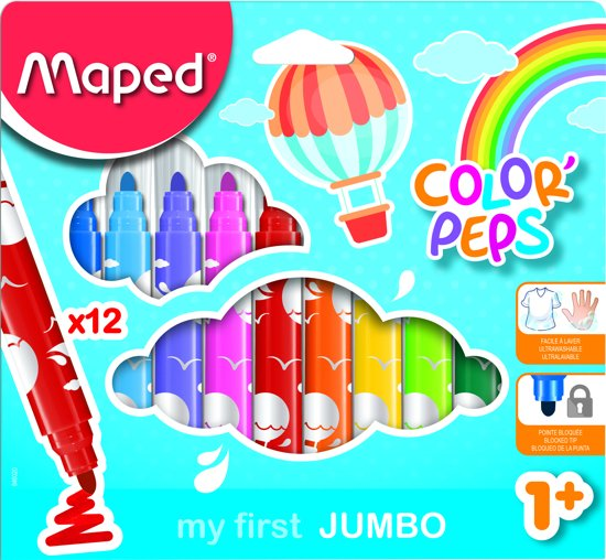 Color'Peps Early Age goed uitwasbare viltstift x 12