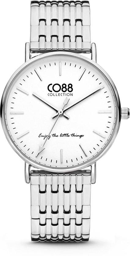 CO88 Collection 8CW-10070 - Horloge - stalen band - zilverkleurig - Ø 36 mm
