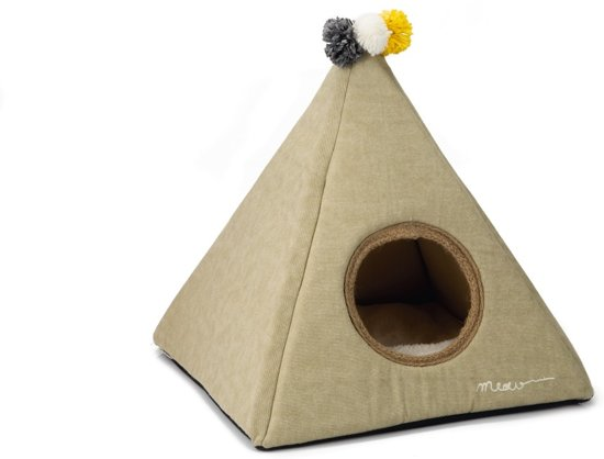 Designed by Lotte Piramido - Kattentent - Beige - 45x45x45 cm