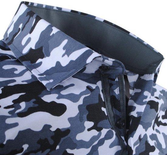 Overhemd Montazinni Camouflage Heren Grijs Trendy Xq4q1TwEzn