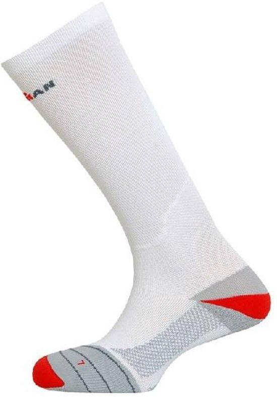 Ironman® Sport compressiekousen - Sportsokken - Volwassenen - Maat 35-38 - Wit/ Rood