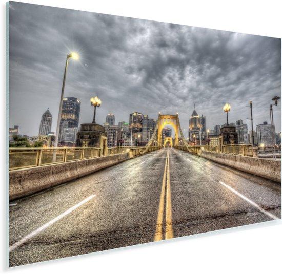 Roberto Clemente brug bij Pittsburgh in de Verenigde Staten Plexiglas 180x120 cm - Foto print op Glas (Plexiglas wanddecoratie) XXL / Groot formaat!