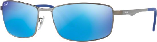 8d542ed67db10e Ray-Ban RB3498 029 9R - zonnebril - Staalgrijs   Blauw Flash - Gepolariseerd