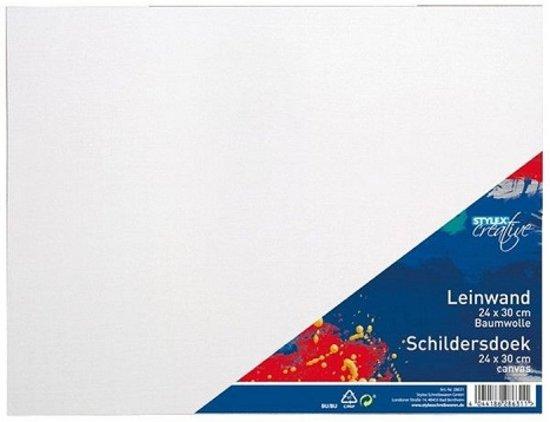Stylex Canvas Schildersdoek 24x30cm 6 stuks