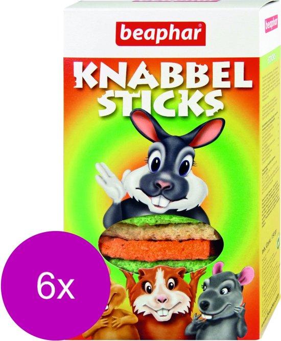 Beaphar Knabbelsticks - Knaagdiersnack - 6 x 150 g