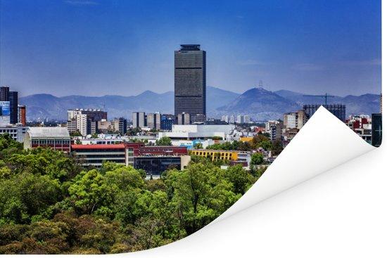 Uitzicht op de gebouwen in Mexico-stad Poster 90x60 cm - Foto print op Poster (wanddecoratie woonkamer / slaapkamer)