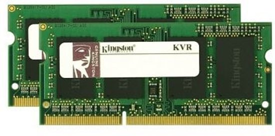 Kingston Technology ValueRAM 8GB DDR3 1333MHZ SODIMM 8GB DDR3 1333MHz geheugenmodule (2x 4GB)