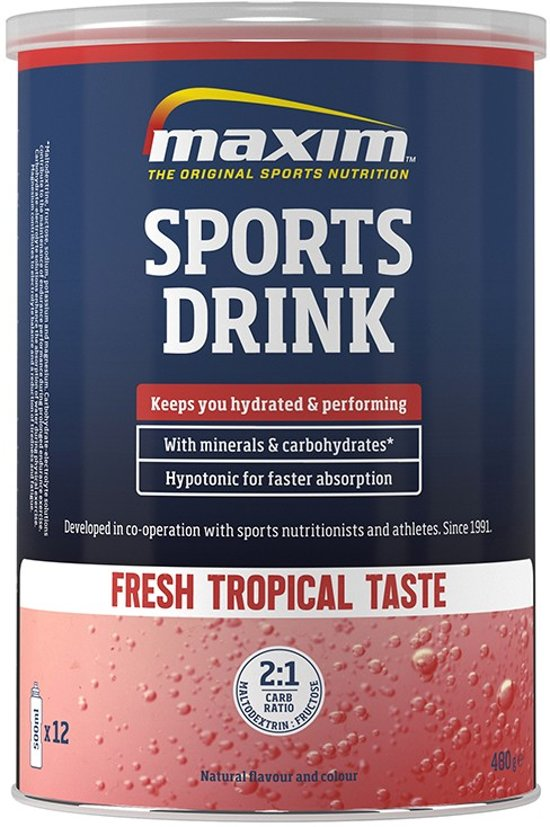 2x Maxim Sports Drink fresh Tropical 480g