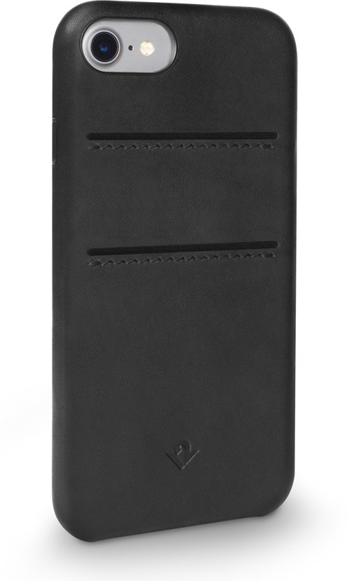 Twelve South Relaxed Leather case w/pockets iPhone 8/7 Black