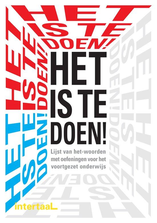 Boek cover Het is te doen - lijst van het-woorden met oefeningen voorhet voortgezet onderwijs boek + cd-rom van Marian Hoefnagel (Paperback)