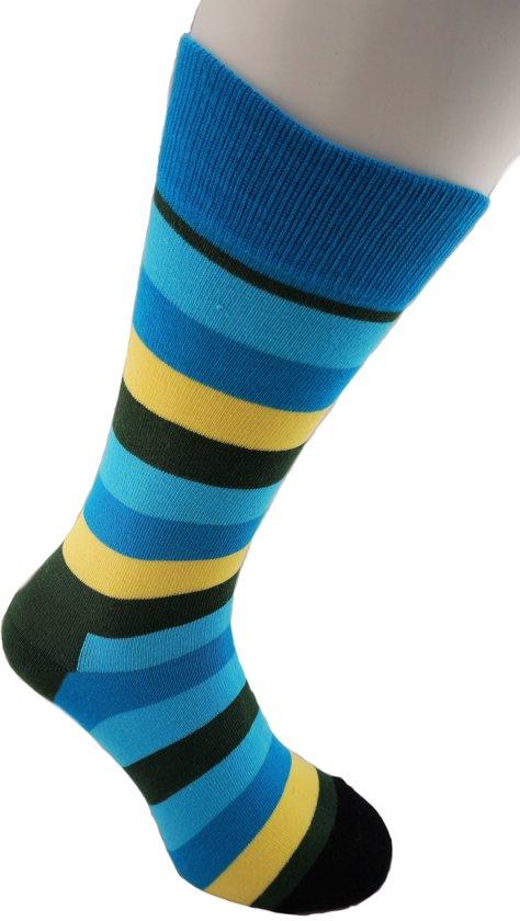 Gekleurde Herensokken, Happy kleuren, Premium socks, Vrolijke Sokken voor Heren en Mannen