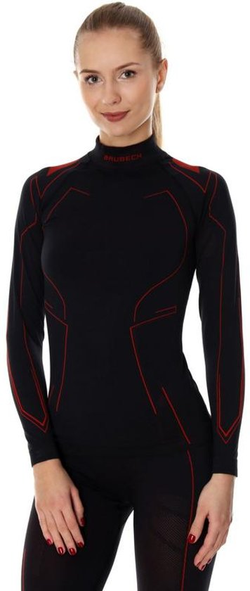 Brubeck | Dames Motor Onderkleding Cooler - Ondershirt - Zwart/Rood - L