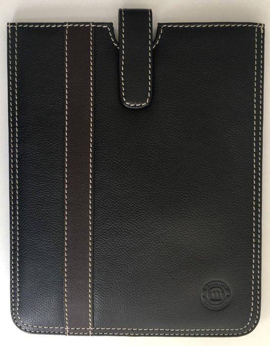 Leren dbramante1928 ipad sleeve. Kleur: zwart met donkerbruine streep