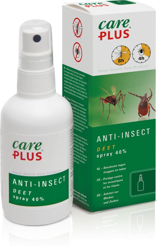 Care Plus Tropenzorg - Deet 40 % - 60 ml - Anti-insecten Spray