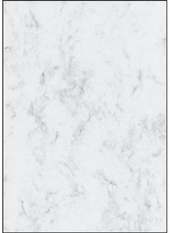designpapier Sigel A4 200grs pak a 50 vel marmer grijs