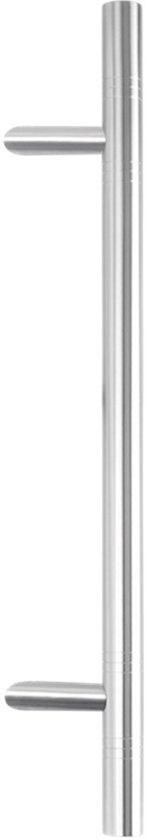 GPF Deurgreep GPF20 verkropt 32x640/ 440mm met decorring voetje 22mm
