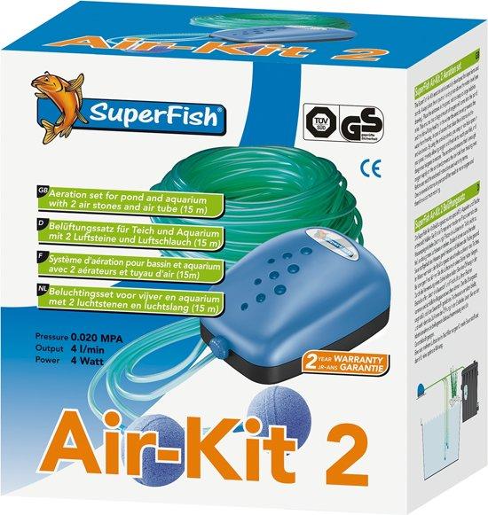 Superfish Air Kit 2 - Vijver - Beluchting - Met 2 luchtstenen en 15 m luchtslang