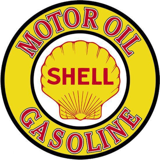 Signs-USA Shell Gas & Oil - Retro Wandbord - Metaal - 30x30 cm