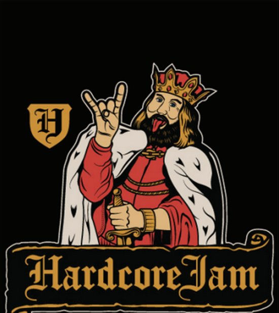Hardcore Jam Fun T-shirt Maat XL