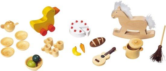 Goki Houten poppenhuis accessoires 23-delig