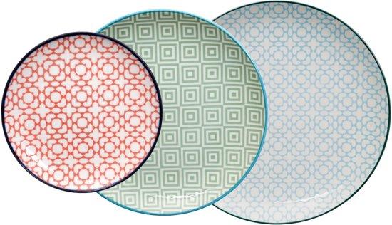 Tokyo Design Studio Geometric Eclectic Borden Ø 16, 21 en 26 cm (set van 3)
