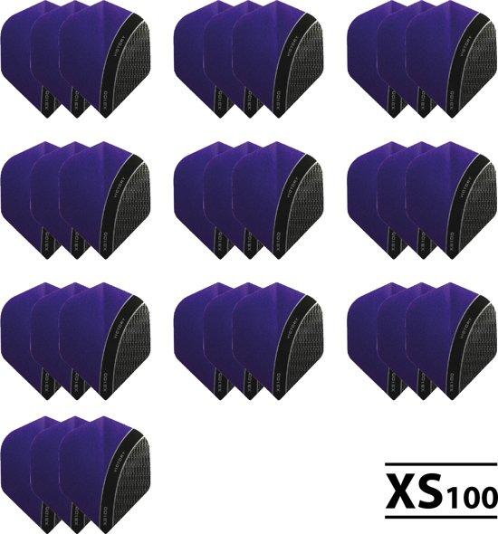 10 - Sets XS100 Curve 100 micron flights - Paars