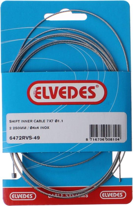 Elvedes Derailleur-binnenkabel 7x7 1,1 Mm Zilver 2250 Mm