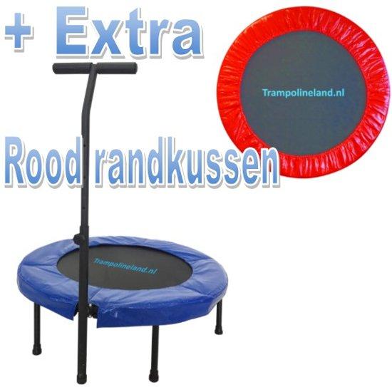 Trampolineland Deluxe trampoline met beugel 96 cm Rood