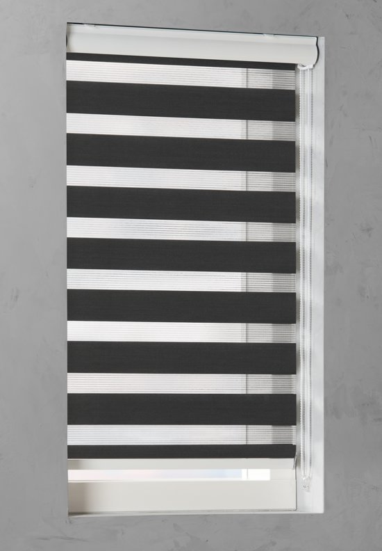 Pure Living - Duo Rolgordijn Lichtdoorlatend - 120x175 cm - Zwart
