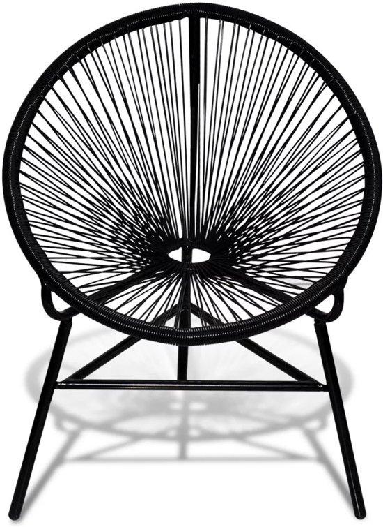 vidaXL Rattan stoel ovaal (zwart)