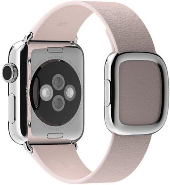 Bandje met moderne gesp voor de Apple Watch - 38 mm - Medium - Roze
