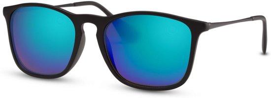 e8c5c9411f903b Cheapass Zonnebrillen - Wayfarer zonnebril - Goedkope zonnebril -  Spiegelglazen - Trendy