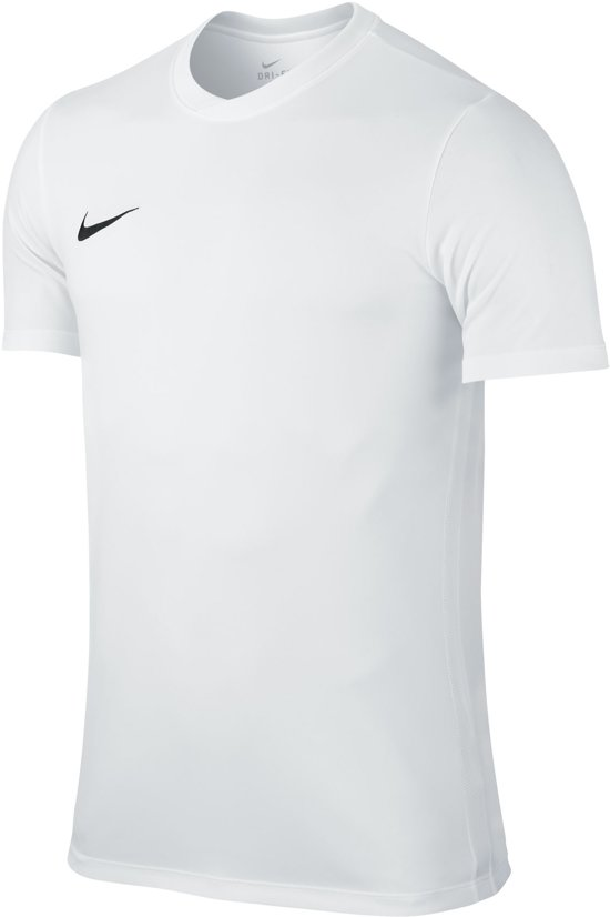 Nike Dry Football Top Ss Sportshirt Heren - White/Black