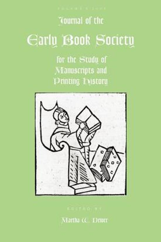 Journal of the Early Book Society Vol 8